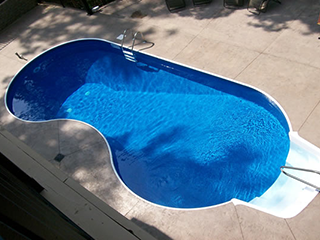 Kidney Shaped In-Ground Pool
