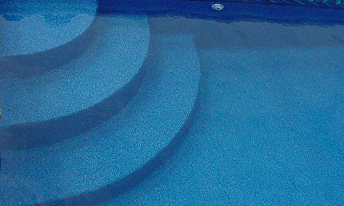 Swimming pool step options mcewen industries for Wedding cake swimming pool steps
