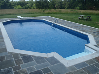 Grecian Shape In-Ground Pool