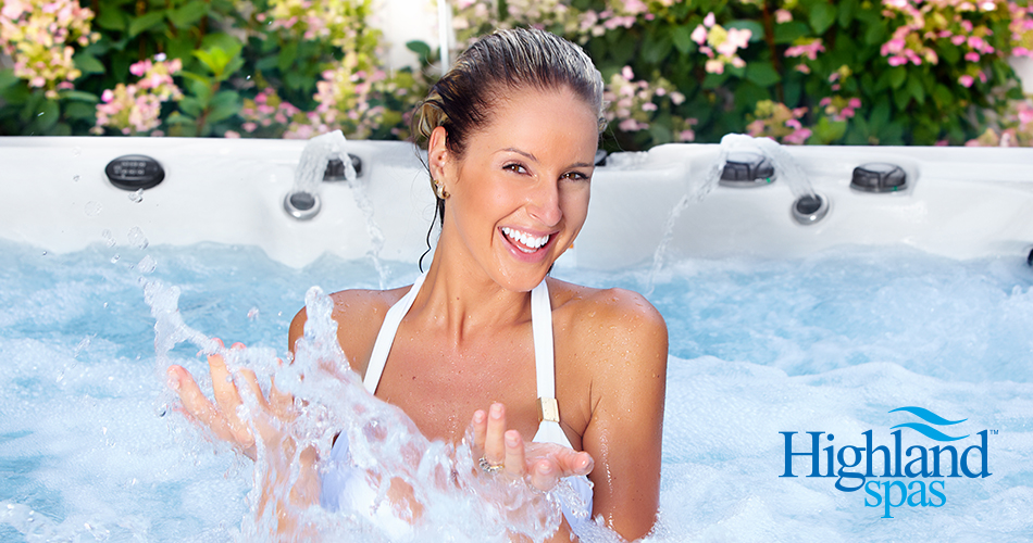 woman enjoying and relaxing in hot tub spa, Charlotte NC Hot tubs, hot tubs and spas, portable hot tubs and spas, outdoor spas and hot tubs,